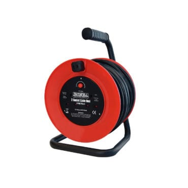 XMS17CABLE20 Faithfull Cable Reel with Thermal Protection 20m 240 Volt
