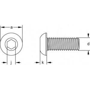 Button Head Screws Diagram