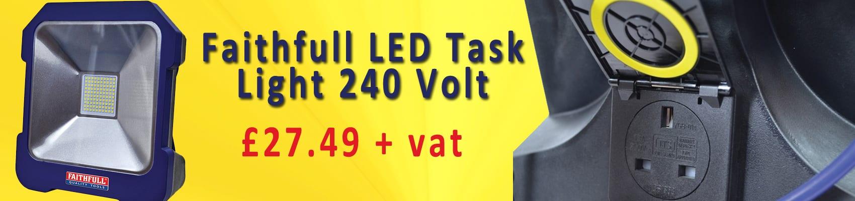 Faithfull LED Task Light 240 Volt