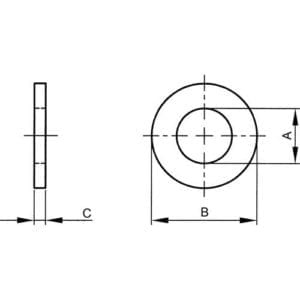 Flat Washers Form C Diagram