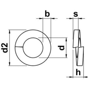 Spring Washers Diagram