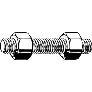 Studding Threaded Bar Diagram